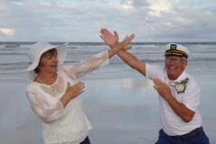Vow Renewal Ceremony, St. Augustine beach